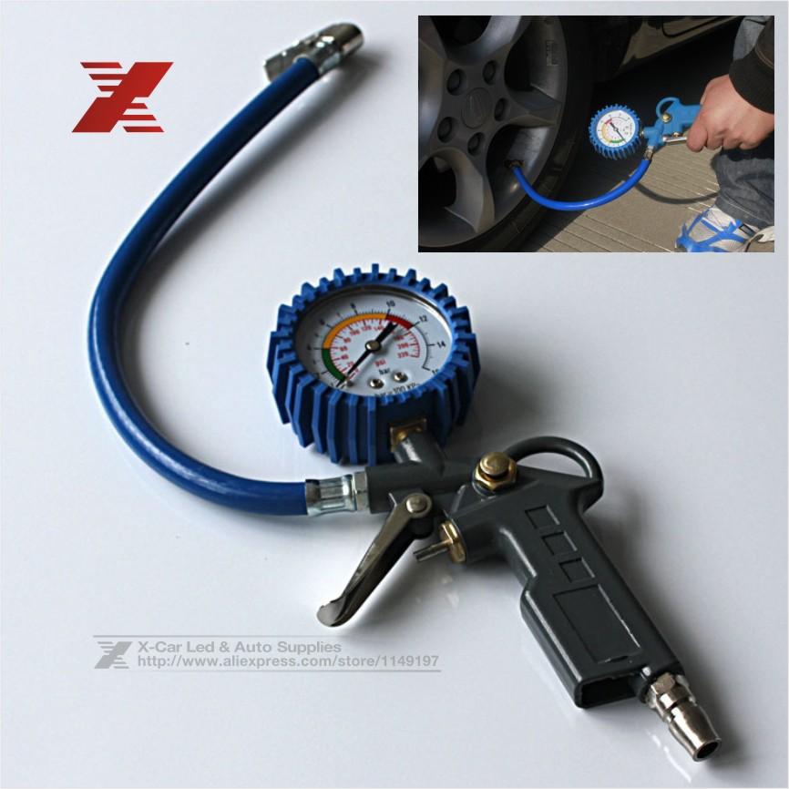 Multi-function Automobile Tire Pressure Gauge Auto Car Truck Motorcycle Tire Pressure Gun 0-16BAR 0-220 PSI Air Inflator Gun