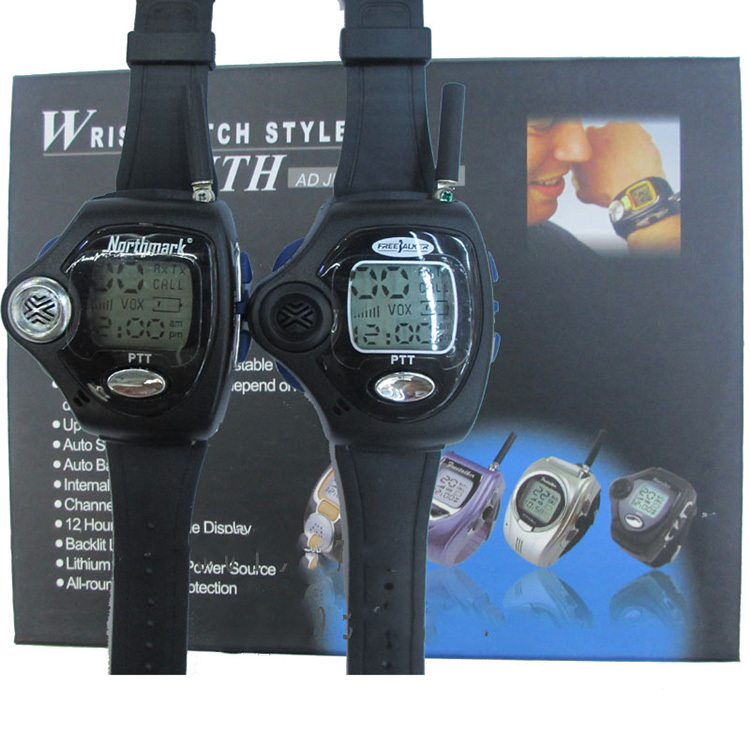1 Pair Wrist Watch Digital Wrist Watch Freetalker RD-820 Walkie Talkie Ham Radio Interphone 2-Way Radio With VOX Operation(China (Mainland))