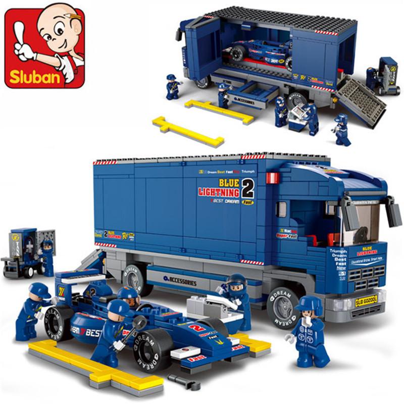 F1 Formula 1 Racing car Series compatible legominifugures 64educational enlighten bricks children toys 0357