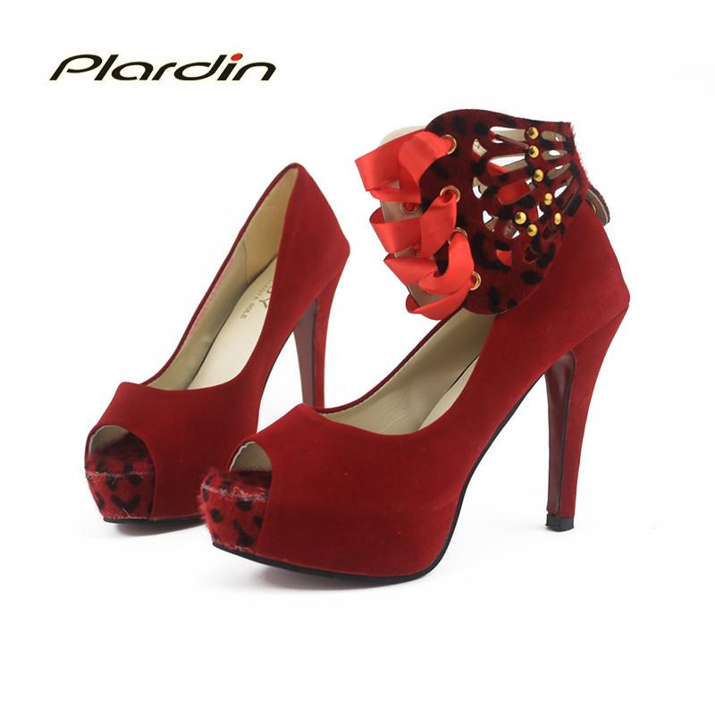 2016 New Pumps Woman Gladiator Party Shose Women Shoes Fashion Europe Ladies Fish Head High Heels