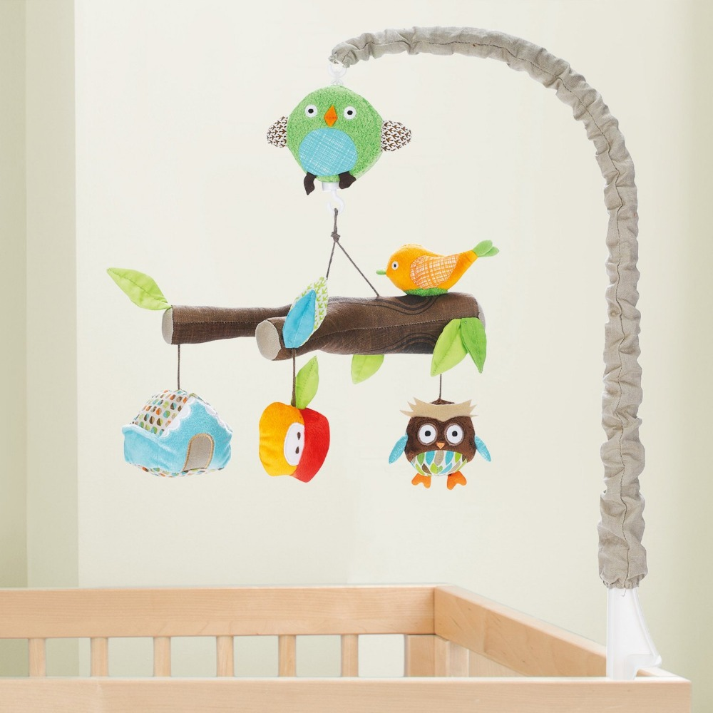 Baby bed mobile - Forest Animal Mobile Bed Clockwork Music Box Holder Baby Bed Bell Baby Bed Plush Toy Owl