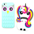 Hot Cute Cartoon Cover Unicorn Horse Owl Animal Capa Soft Silicone Phone Cases For iPhone 7