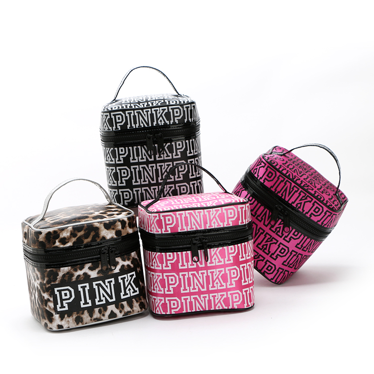 New Top Quality PINK Zipper Cosmetic Bag.Makeup Case,Travelling Wash Bag,Portable Toiletry Bags.Storage Box.Free Shipping(China (Mainland))