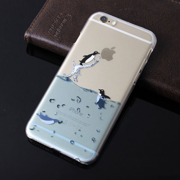 2015 New Mobile Phone Cases For Apple iPhone 6 4.7 inch Marine Animals Plastic Hard Back Cover Capa Para For iPhone 6 Case Sale(China (Mainland))