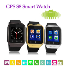 Bluetooth 4.0 ZGPAX S8 Smart Watch Phone MTK6572W Dual Core 1.2GHz Android 4.4 OS 512MB 4GB WIFI GPS 3G 1.54 Inch 240*240 Pixel