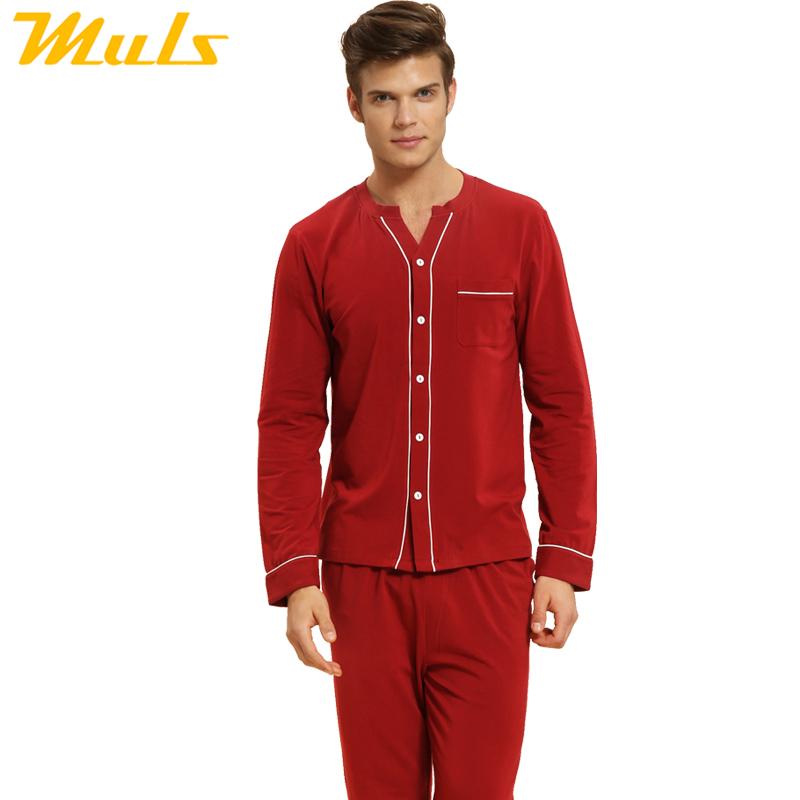 Sleep cloth pijama pink love negligee long dark red nighties pajamas men pants victorian nightgown red home wear men Muls 1537B(China (Mainland))