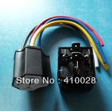 In stock Car Auto Truck 12V 12 Volt DC with LED 5pin 40A AMP Relay & ceramic  Socket SPDT 5Pin(China (Mainland))