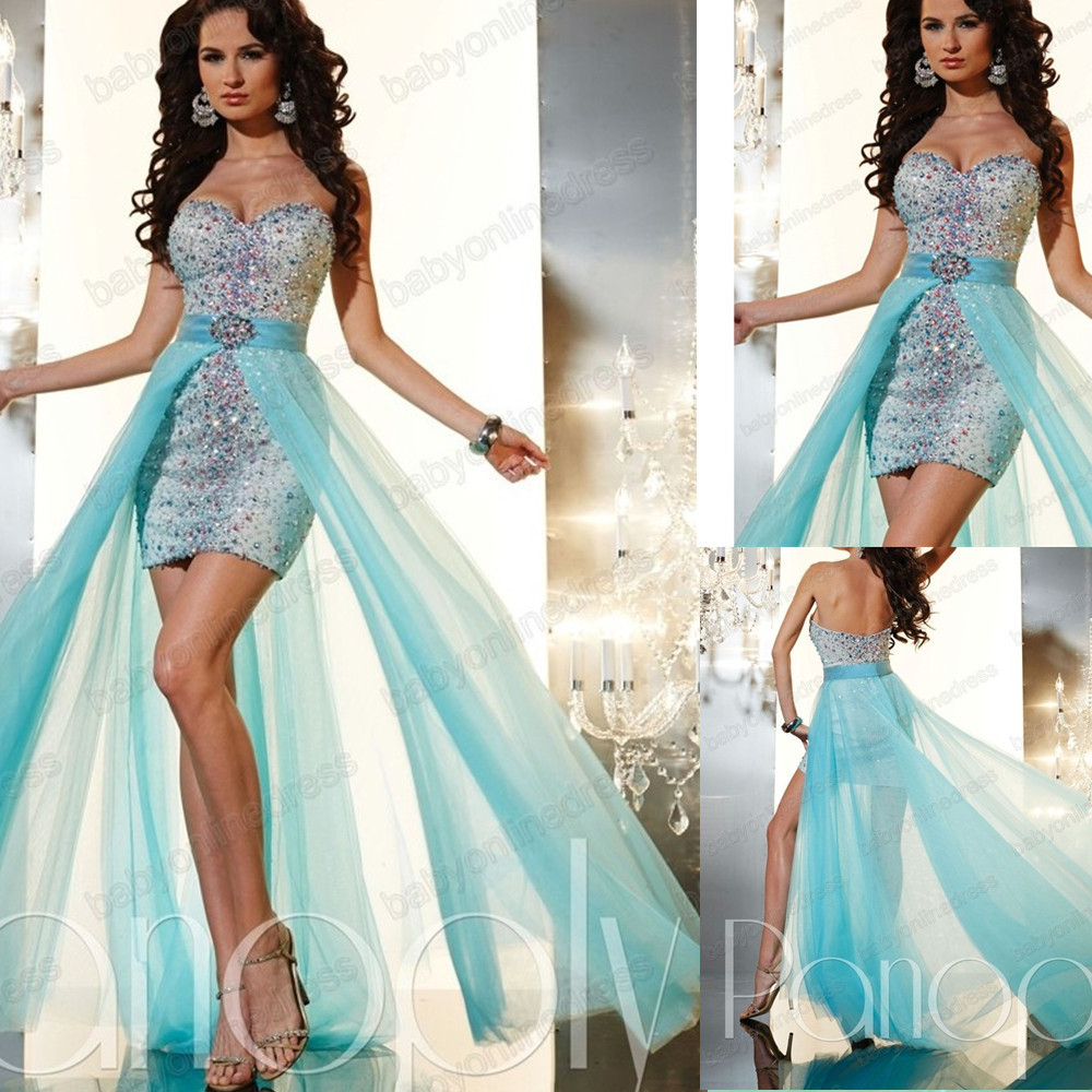 2014 Prom Dresses High Low Removable Skirt | Dress images