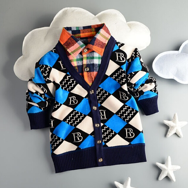 2015 children outerwear polo sweater fashion cotton baby boys girls spring autumn winter thick sweater cardigan sweater(China (Mainland))