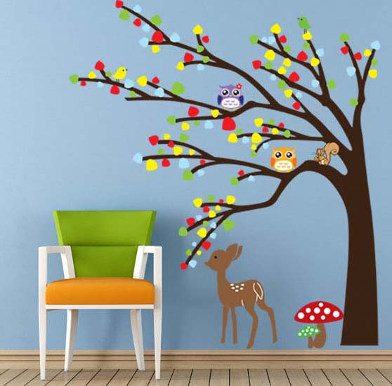 60*90cm Home Decor Removable 3D Wall Sticker PVC Waterproof Wallpaper Kids Bedroom Decorations