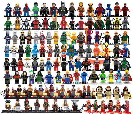 Free shipping 30pcs STAR WARS TMNT Avengers TV figures super hero minifigures building blocks sets model bricks toys baby toy(China (Mainland))