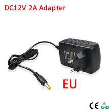 LED power supply 12V 2A EU Plug AC 90V-240V Converter Adapter DC 12V 2A 24W for LED 3528/5050/5730 SMD strip lights Use(China (Mainland))
