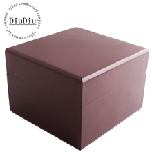 Nuevo 2015 venta al por mayor de madera de alto grado Material de color rojo caja de reloj caja de embalaje caja de regalo con el tamaño 10.5 * 10 * 7 cm se puede personalizar LOGO 34