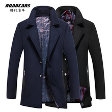 high quality Business casual slim fit men wool coat M-3XL cultivate one's morality   single-breasted lapel woolen cloth coat(China (Mainland))