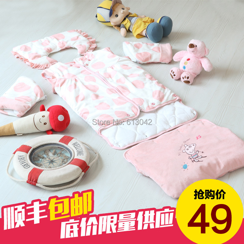 Baby friendly autumn and winter baby sleeping bags newborn baby child winter anti tipi lengthen autumn and winter super soft(China (Mainland))