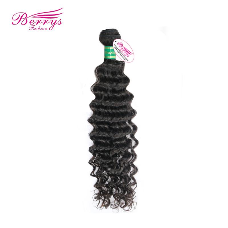 "Brazilian Virgin Deep Curly Human Hair , 1pcs/lot 100g/pcs (10""-28"") Natural Black Color Free Shipping Top Quality Hair waves(China (Mainland))"
