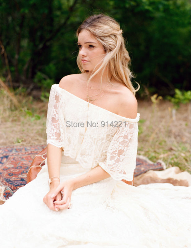 Buy bohemian lace wedding dress vintage for Aliexpress robes de mariage