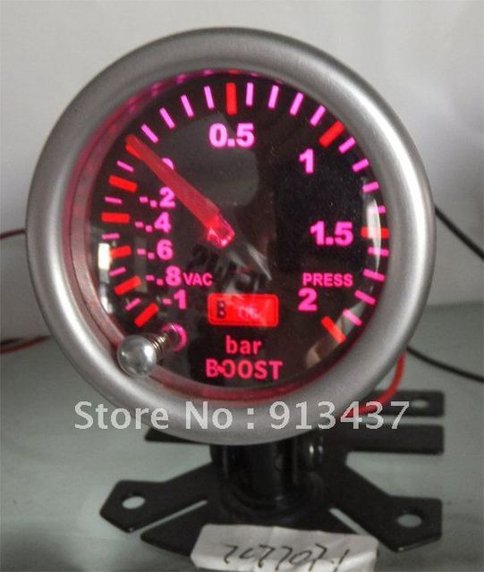 7 COLORS SILVER LENS AUTO GAUGE /METER BOOST TURBO BAR 52MM LED BRIGHTLIGHT WITH MEMORY FUNCTION   beauty equipment ACCESSORIES