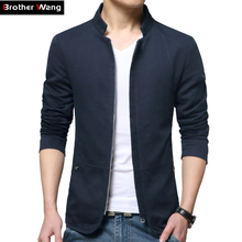 2017 New Men's Casual Cotton Jacket Solid Color Fashion Coat Brand Men Clothing(China (Mainland))