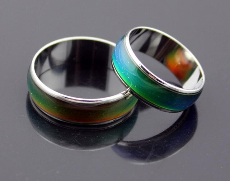 GRGEUS Personality Stainless Changing Color Mood Rings Feeling Emotion Temperature Ring Jewelry For Men Women Party Christmas(China (Mainland))