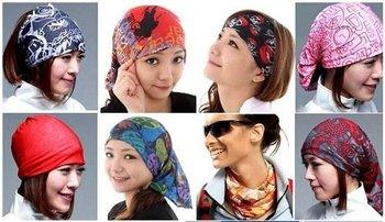 9pcs whosale price fashion bandana, multifunctional bandana,seamless head scarf  260858