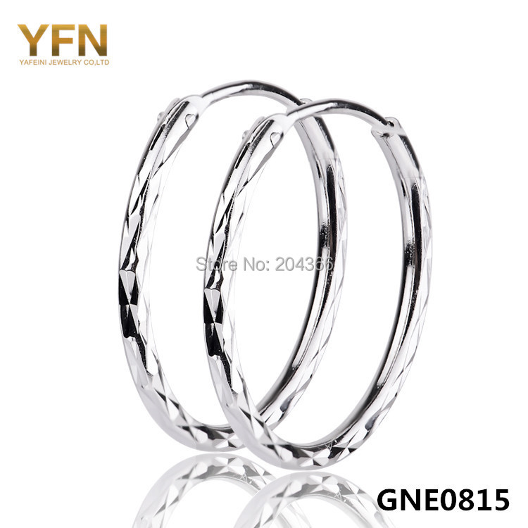 GNE0815 NEW Brincos 925 Sterling Silver Earrings Fashion Jewelry Aros de Plata 925 Silver Small Hoop Earrings For Women(China (Mainland))