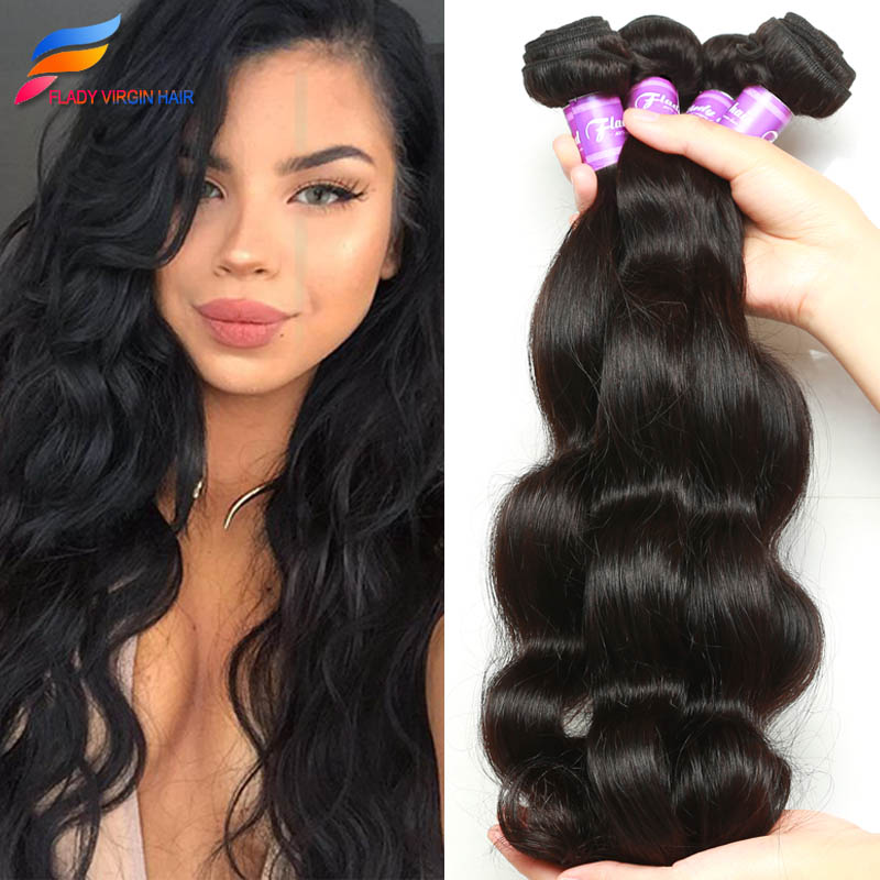 8a Virgin Brazilian Body Wave 4 Bundles Virgin Brazilian Hair Annabelle Hair Company Virgin Brazilian Hair Bundle Deals(China (Mainland))