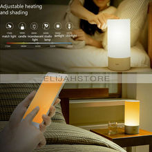 New Fashion Xiaomi Yeelight Indoor Night Lights Bed Bedside Lamp 16 Million RGB Touch Control Support Mobile Phone App Control(China (Mainland))
