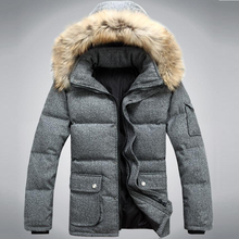 Men's Long Thick Warm Woolen White Duck Down Coat,Winter Snow Down Jacket For Men,Minus 30 Degrees,3 Colors,Size S-3XL,SD9901(China (Mainland))