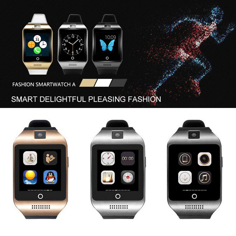 2016 new arrivalal Bluetooth 3.0 smart watch Apro Q18 Support NFC SIM GSM Video camera Support 4.3 above Android Mobile phone(China (Mainland))