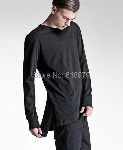 2015 mens extended t shirts men hip hop tyga urban clothing kanye west justin bibber cool tee pyrex hba yeezy - ifashion Shopping Mall store