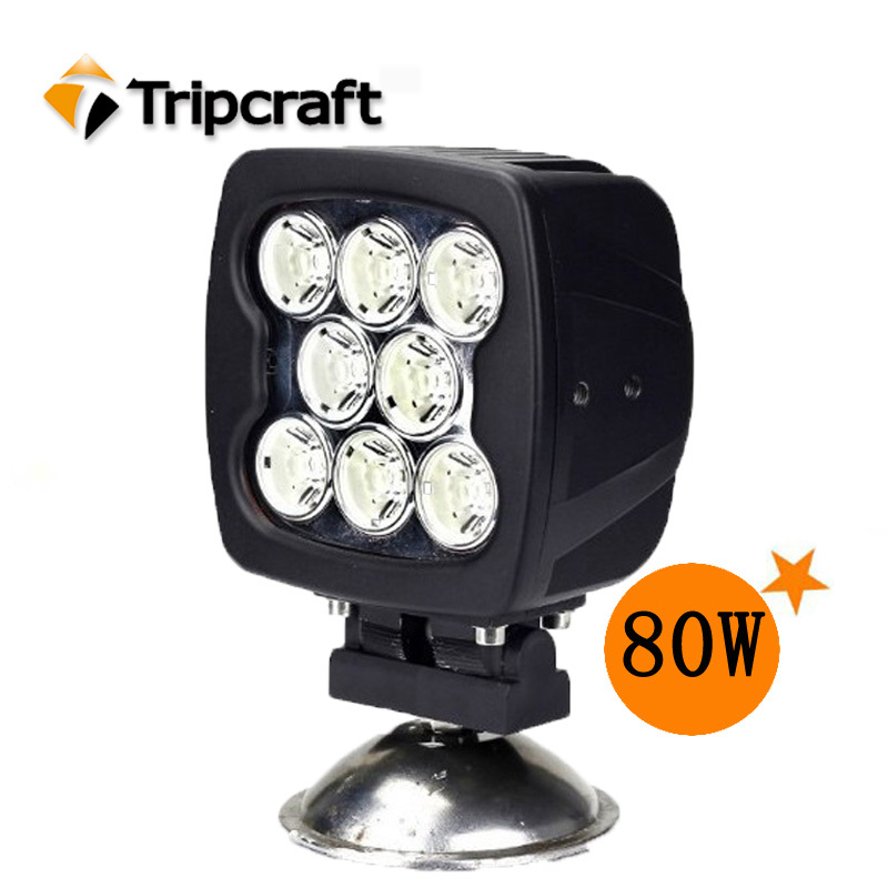 6'' 80W CREE LED WORK LIGHT FLOOD BEAM FOR OFF ROAD 4WD USE, LED DRIVING LIGHT Truck Tractor 4X4 ATV 4WD JEEP CAR 4PCS/LOT(China (Mainland))