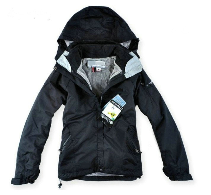 Free Shipping 2013 Colombia women Jackets outdoor sports ski suit warm waterproof two-piece set hoody lady tops ski wear coat(China (Mainland))
