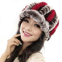 2015 New Women Winter Fashion Fur Hats Handmade Caps Female Warmer Elegant Party Headwear Dropship(China (Mainland))