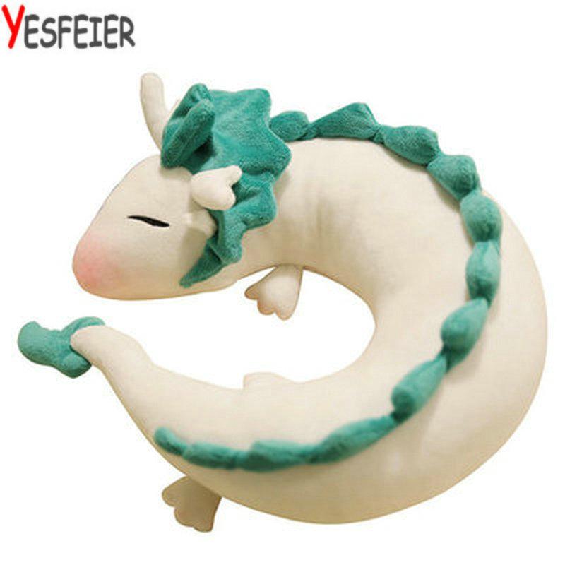 new 25*10cm Creative white Chinese dragon Plush Toys Dinosaur cloth doll gray doll neck pillow cushion stuffed plush baby gift(China (Mainland))