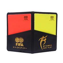 Sport Football Soccer Referee Wallet Notebook with Red Card and Yellow Card #61881 (China (Mainland))