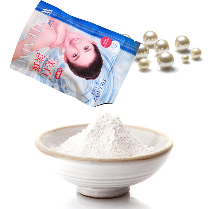 250g/bag Pearl Powder Mask DIY Whitening Brighten Anti Aging Remove Acne Spots Speckle Blackhead Shrink Pores Facial Mask A01659(China (Mainland))