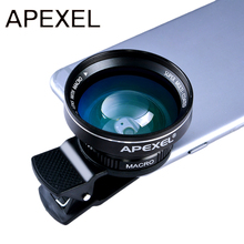 Buy APEXEL Mobile lens HD 0.63x Super Wide Angle Lens 12.5x Super Macro Lens iPhone 5s/6/6s Plus Samsung xiaomi redmi mi 5 for $15.87 in AliExpress store