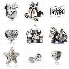 Buy Couqcy fashion Silver-plated Bead Charm Vintage lovely Charms Fit Women Pandora Charm Bracelets & Bangle DIY Jewelry wholesale for $1.99 in AliExpress store
