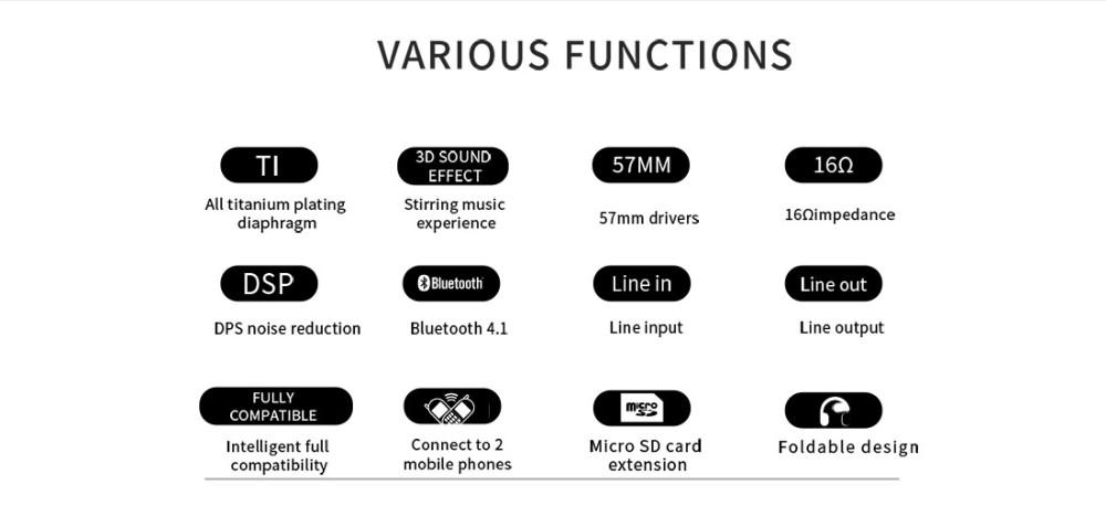 Bluedio T3 Plus Wireless Bluetooth  Headphones/headset with Microphone/Micro SD Card Slot bluetooth headphone/headset