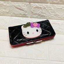 Длинный милый аниме каваи зеркальный Женский кошелек женский кожаный hello kitty бумажник портмоне Femme бумажник Женский 40(China)