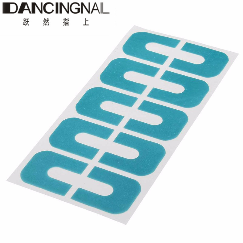 1 Sheet Blue Plastic Peel Off Tape Palisade Nail Polish Protector For Nails Art Painting Manicure Fingernail Cover Tools(China (Mainland))