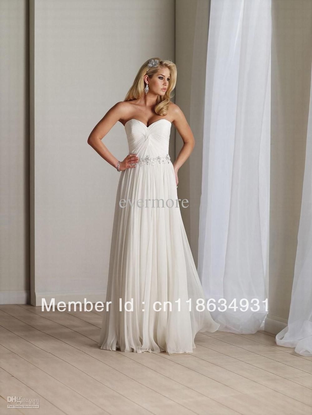 Mother Of Bride Dresses For Destination Weddings : New chiffon sweetheart a line beach destination