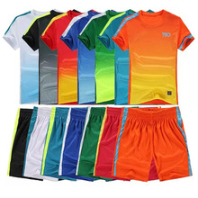 2016 17 Thai Quality Mens Kids Soccer Jersey Set Short sleeve Jersey Football Training Kits Boys Suit DIY logo XXL 3XL 4XL 5XL(China (Mainland))