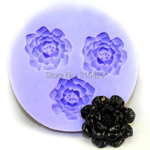 Nicole brand manufactory silicone resin crafts flower fondant cake decoration mold F0131(China (Mainland))