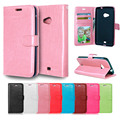 Deluxe Litchi Leaves Leaf Wallet Leather Flip TPU Soft Case For Nokia Lumia 630 635 Phone Bags Cases Hit Color Design