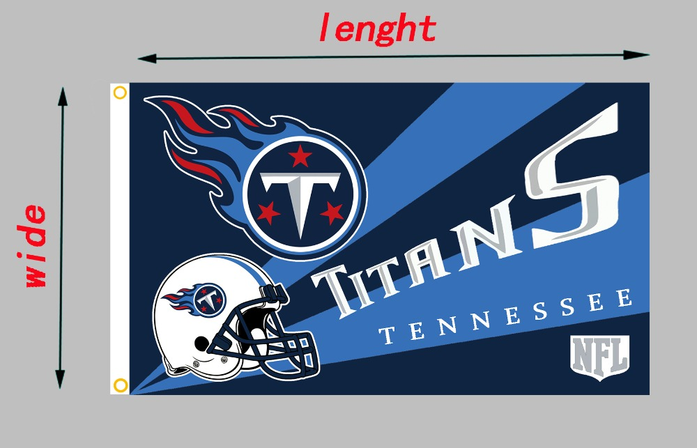 100% polyester team flags,Tennessee Titans flag size 90x150cm(3x5FT),Custom Waterproof banners, printed banners without flagpole(China (Mainland))
