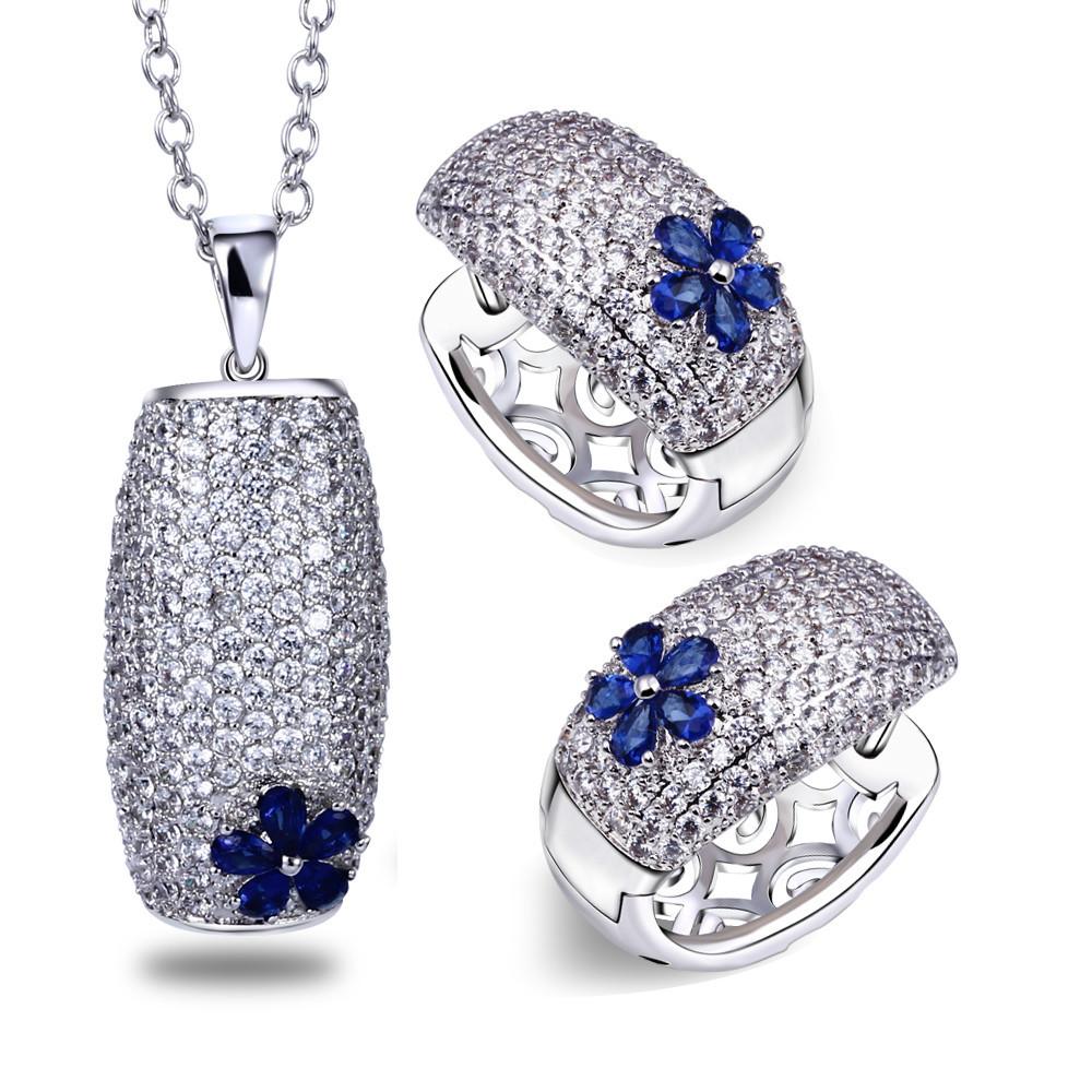 Здесь можно купить  Earring and pendant set Montana jewelry sets new fashion necklace jewelry sets necklace and earrings AAA Swiss cubic Zirconia  Ювелирные изделия и часы