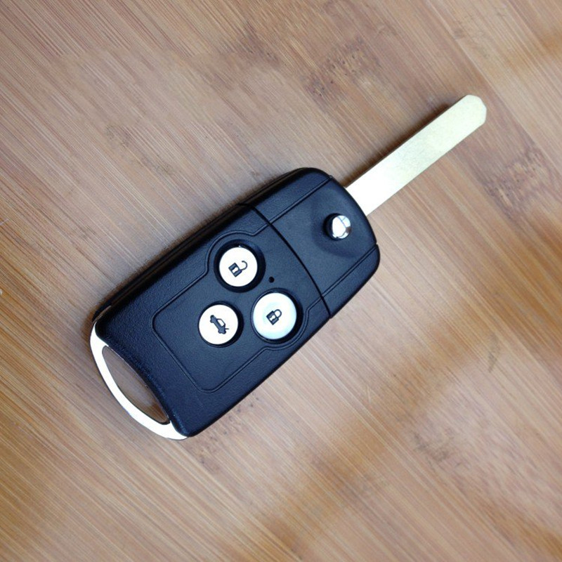 or Honda Accord Flip Key Replacement Folding Remote Key Shell 3 Button Key Case For Honda Acura Spirior Fob Car Key Shell Case(China (Mainland))