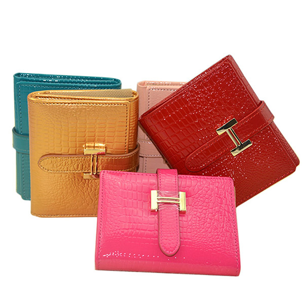 Brand Mini Women Genuine Leather Wallet Classic Brand Female Coin Purse Wallet Short Female Card Holder Purse Women(China (Mainland))